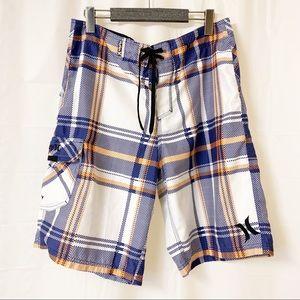Hurley Orange and Blue Swim Trunks Board Shorts